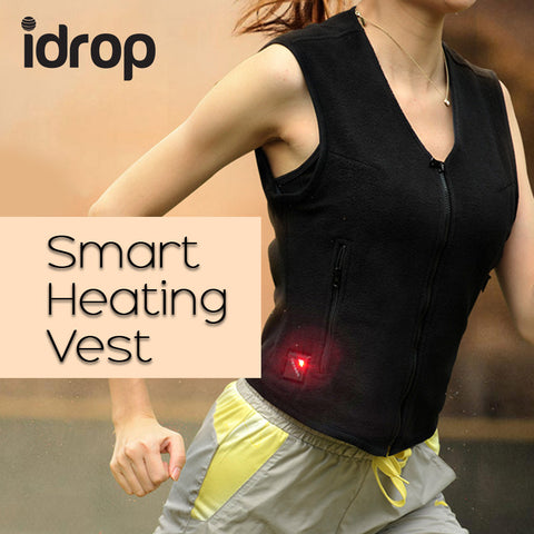 idrop Travel Smart Heated Vest Control Botton With PowerBank