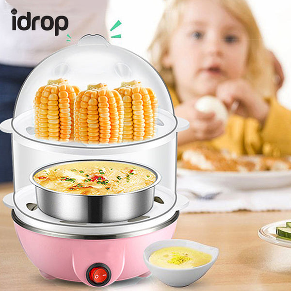 idrop Multifunction Double-Layer Electric Food and Egg Cooker/ Boiler & Steamer