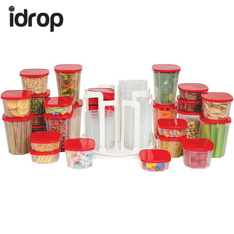 idrop 49 Piece Set Storage Spinner Food Storage & Carousel