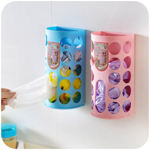 Set Of 2 - Plastic Bag Storage Box Organizer (Random)