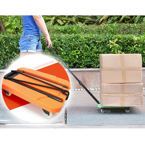 Portable Folding Luggage Cart Trolley Drawbars