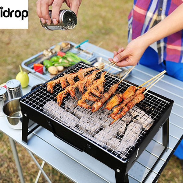 idrop Folding portable outdoor Barbeque Charcoal BBQ Grill Oven