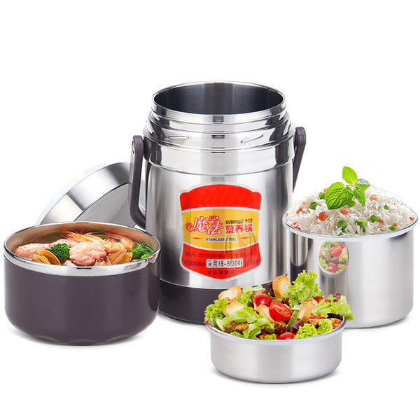 Multi Layer Stainless Steel Stew Handle Thermol Pot