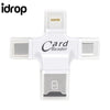 idrop 4 in 1 OTG reader Type-c/Lightning/Micro USB/TF Card/USB port for Android IOS