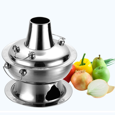 30cm Stainless Steel High Quality Charcoal Steamboat Pot