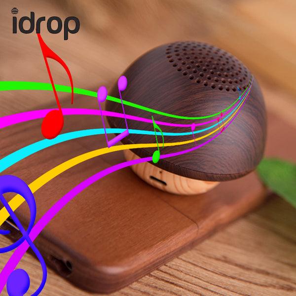 idrop Portable Mini Wireless Bluetooth Mushroom Speaker for iPhone iPad Android (Sling Not Included)