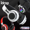 idrop TM-021 Wireless Bluetooth Headphones with MIC FM radio Support TF card 3.5mm jack LED Intelligent light