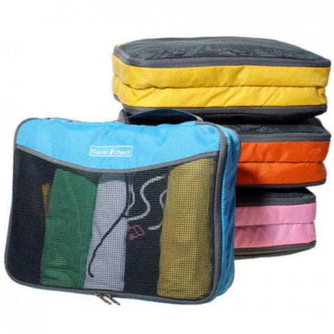 Travel Check Toiletry Organizer Pouch Bag