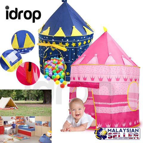 idrop Portable Folding Children Tent Castle Kids Gifts Outdoor Toy Tents