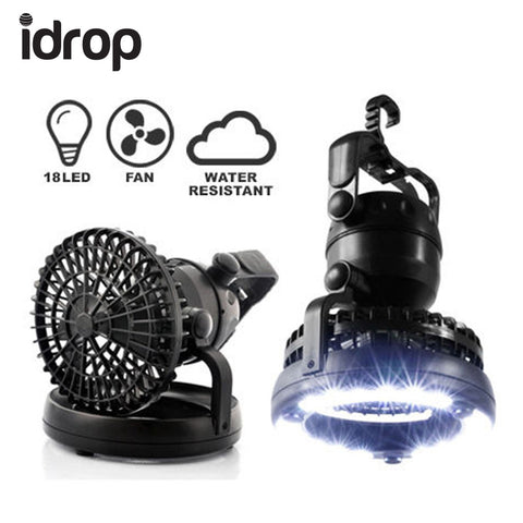 idrop 2in1 Portable Outdoor Camping Combo Light Tent Lantern and Fan with Hook
