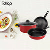 idrop Three-piece Cookware pan and pot set  with lid