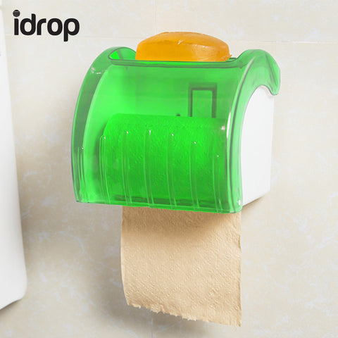 idrop Wall Mounted Plastic Waterproof Toilet Paper Towel Rack Bathroom Tool 13*14*13.5cm