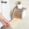 idrop Wall Mounted Plastic Waterproof Toilet Paper Towel Rack Bathroom Tool