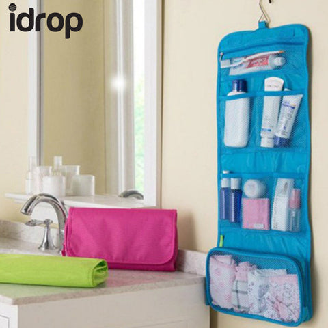 idrop Multifunction Travel Portable Wash Bag Cosmetic Makeup Pouch Toiletry Organizer