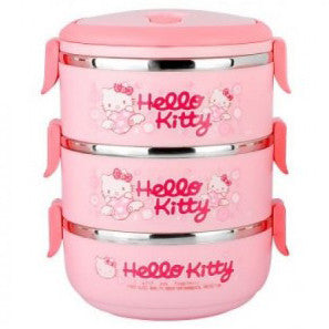 Triple Layer Cute Cartoon Lunch Box - Hello Kitty