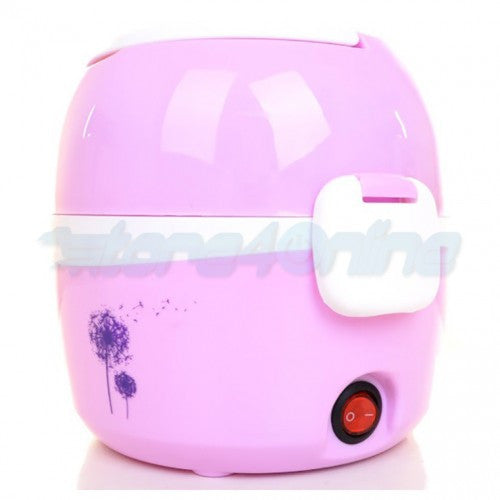 Two Tier Multi-Functional Electric Lunch Box - 1.2L (Pink)