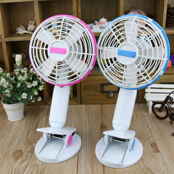 USB Portable Clip Fan / Cool SUmmer Collection USB Fan / Cute Mini Clip Fan