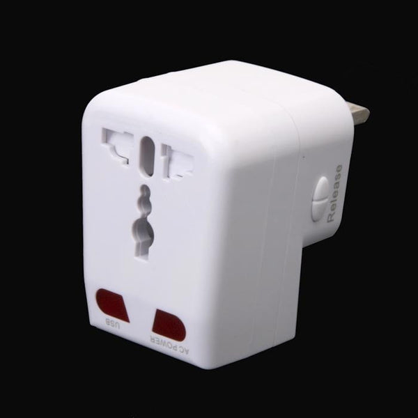 Universal Travel Adapter AC USB Power Plug AU EU UK US