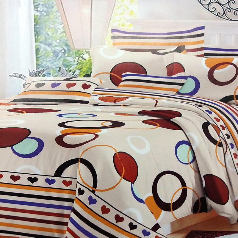... Idrop Creative Design Colorful Fashion Design Bedding QUEEN Size Fitted  Bed Sheet Set [1pc X