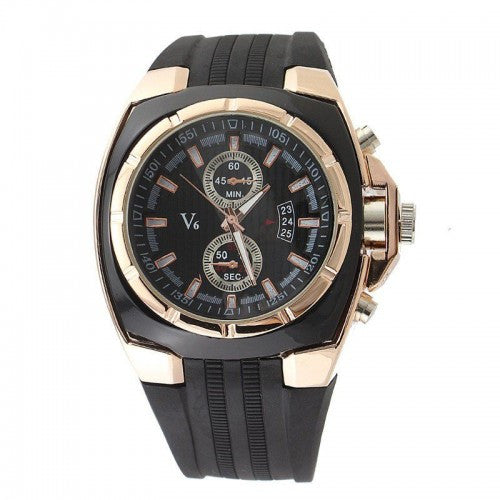 V6 Men Business Wristwatch - Black