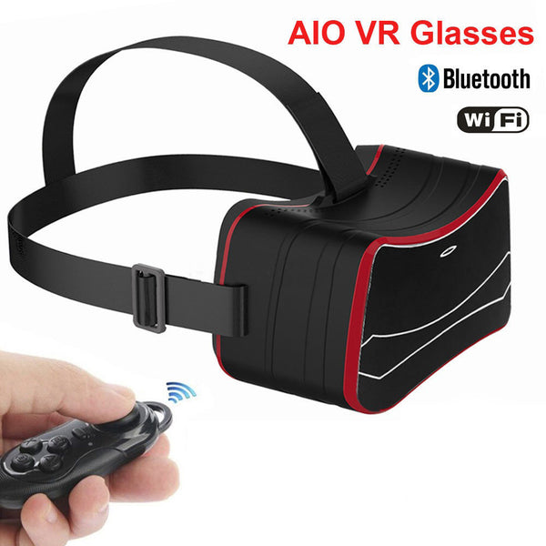 VR HD 3D Glasses Movie All In One VR Glasses Headset + Control