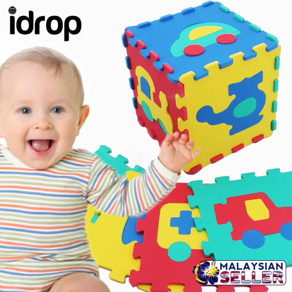 idrop Vehicle Soft Foam Puzzle Mat - Small Size - Creativity and Imagination Skill Develop