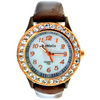 WOMAGE Ladies Small Face Lovely Rhinestone Wrist Watch Quartz Fashion 744
