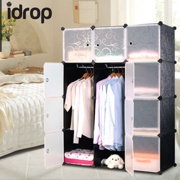idrop 12 Cubes Wardrobe with Two Hangers