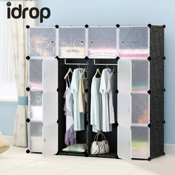 idrop 16 Cubes Wardrobe with Two Hangers