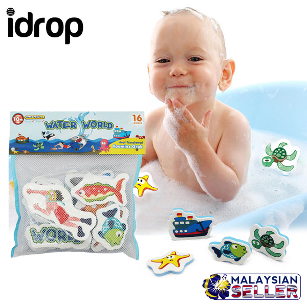 idrop Water World Bathtub Play Foam Puzzle Waterproof 16pcs