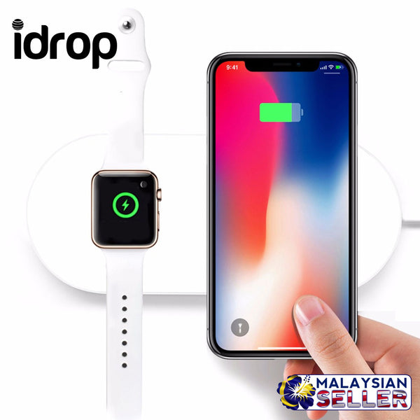 idrop Mini AirPower Wireless Charging pad For Phone and iwatch with Anti-Slip Rubber