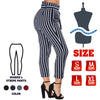 idrop Women's High-Waist Striped Cropped Pants with a Front Tie