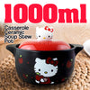idrop 1L Casserole Ceramic Stew Soup Pot for Kids