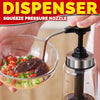 idrop 500ml Kitchen Seasoning Sauce Cooking Oil Glass Queeze Pressure Dispenser Bottle