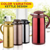 idrop [ 1.6L ] Thermal Stainless Steel Insulation Drinking Vacuum Kettle Flask Pot with Glass Inner Bile