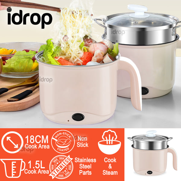 idrop 1.5L GX 2 LAYER Multifunction Non-stick Stainless Steel Electric Cooking Steam Pot