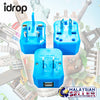 idrop Travel Adapter International Universal Power Converter Adapter Set Power Plug Wall Charger