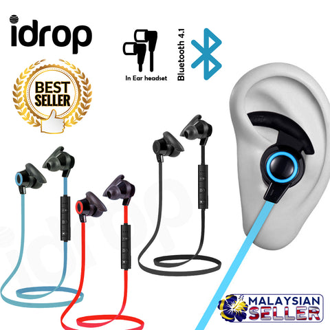 idrop AMW-810 Bluetooth Earphone Earbud Running In Ear Car Driver 4.0 Wireless Stereo Headset Calls Handsfree