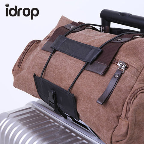 idrop Set of 2 NY-25 Travel Luggage Bag Bungee Suitcase Adjustable Belt Backpack Carrier Strap