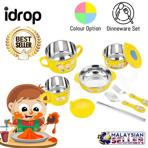 idrop Creative Cute Dinnerware 9pcs / Set for Children Kids