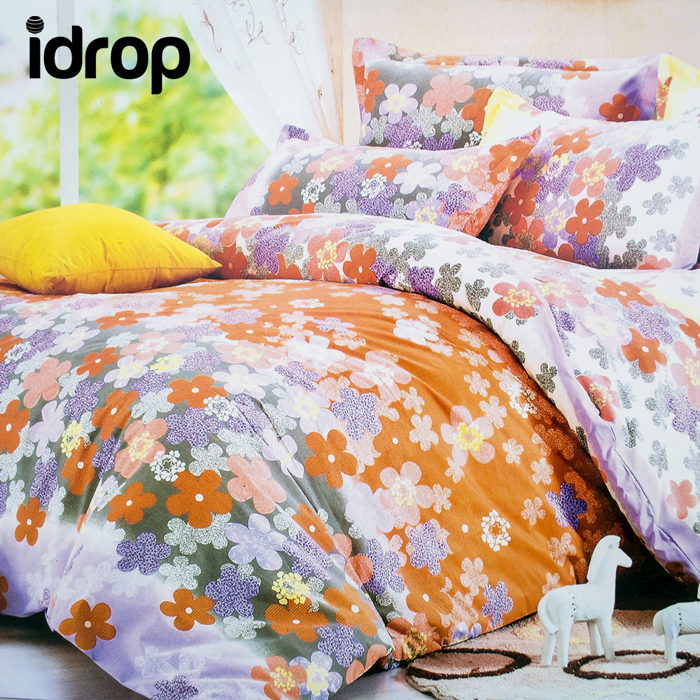 Idrop Colorful Fashion Design Bedding Queen Size Fitted Bed Sheet