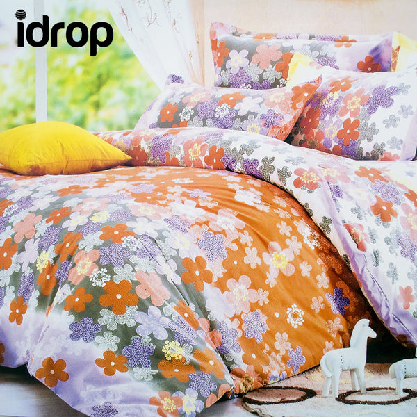 idrop Colorful Fashion Design Bedding QUEEN Size Fitted Bed Sheet Set [bedsheet/pillowcase/bolster] [Design sent randomly]