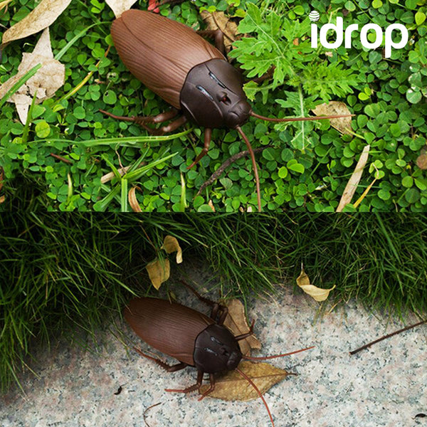 idrop Infrared Wireless Control Mock Fake Cockroach RC Toy Prank Insects Joke Scary Trick Bugs