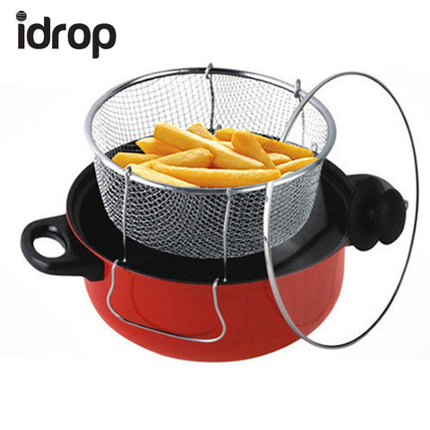 idrop 24cm 3-Piece Kitchen Set Multi-function Cookware Steamer, Cooker & Fryer