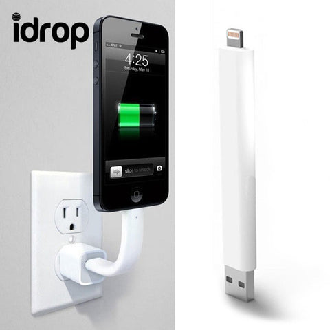 idrop Bendable Rigid iPhone Charger  Lightning Cable Stand