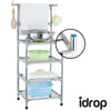 idrop Portable four layers stainless steel shelf  living room furniture