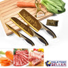 idrop 5 Set Kitchen Knife & Cutting Accessories (GOLD) For Kitchen Cutting, Chopping and Slicing