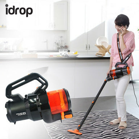 idrop TB-Q251 Handy Vaccum Cleaner Blowing Washable Filter Powerful Suction Power Various Brush HandBag