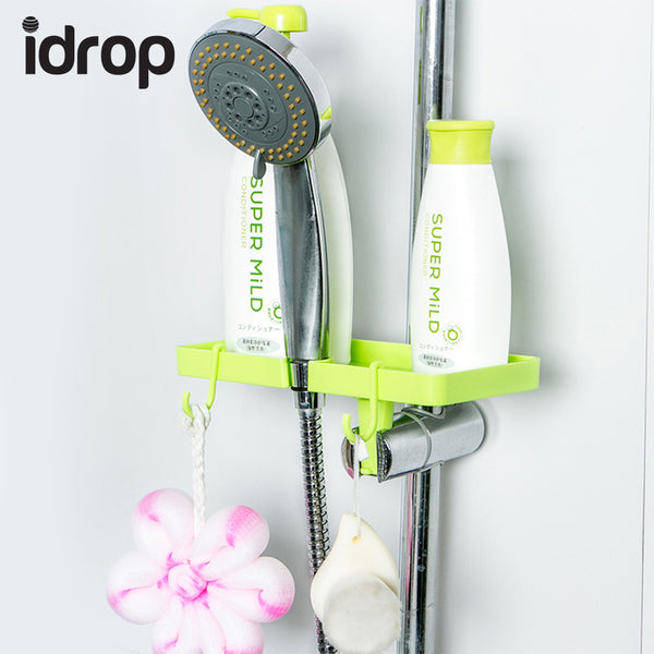 idrop Set of 2 Home Bathroom Plastic Shower Storage Rack Shampoo Holder Shelf Wall