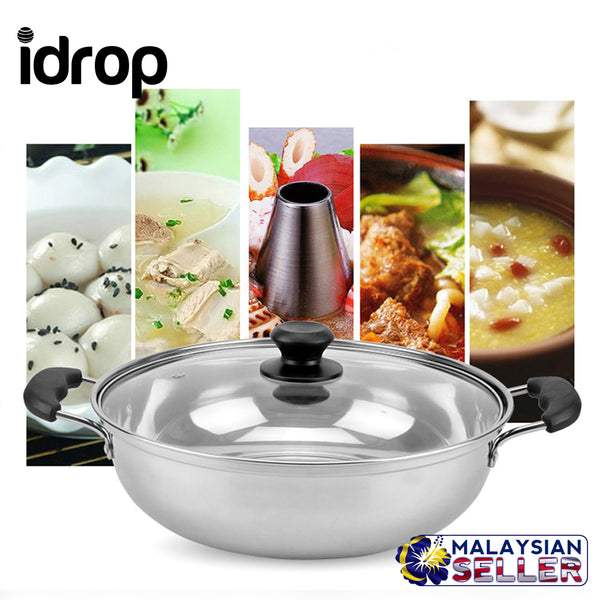 idrop Thickened Stainless Steel Hot Pot Induction Cooker Pot - 32cm